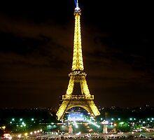 Eiffel by Night by Natasha M