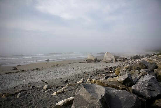 Ocean, Sand, and Fog by Scott Ruhs