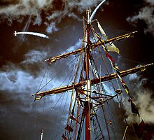 Tall Ships & silver birds (2) by SNAPPYDAVE