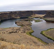 dry falls, washington by stampmouse