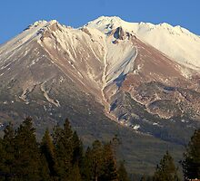 Moonrise over Mt Shasta by Randy Richards