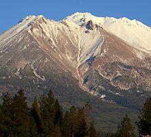 Moonrise over Mt Shasta by Randy Richards