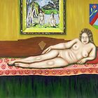 Gok with Munch and Cezanne by Neil Trapp