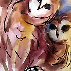 Barn Owls by Robin Spring Bloom