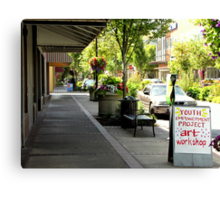 Youth Project, downtown, Eugene Oregon Canvas Print