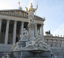 Parlament and Athene Brunnen by Elena Skvortsova