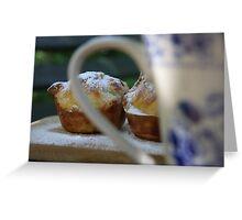 Tea and Cake Greeting Card