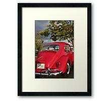 Slug Bug Red Framed Print