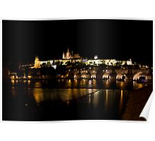Charles Bridge with Castle & Cathedral Poster