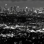 L..A view at night by Varujhan  Chapanian