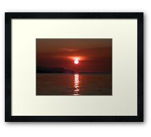 Red Sky In The Morning Framed Print