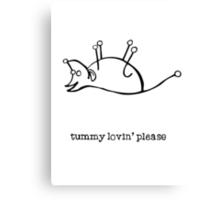 tummy Canvas Print