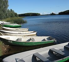 White boats and blue lake called Paunküla by loiteke