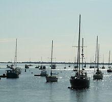 Diamond water boats by Linda Jackson