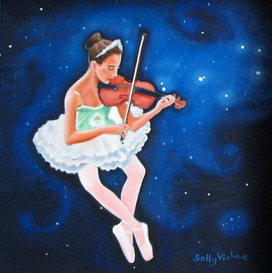 Hilary in the Sky with Pleiades by sally seabright