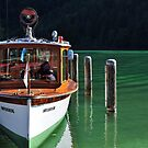 Boat on Green Water by Daidalos