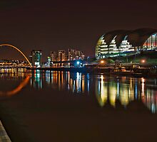 Sage Centre and Millenium Bridge by Fraser Ross