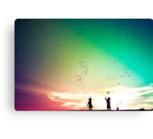 You cut me out in little stars....and placed me in the sky Canvas Print