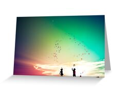You cut me out in little stars....and placed me in the sky Greeting Card