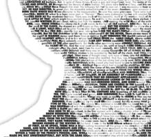 Edgar Allen Poe Text Portrait Sticker