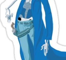 Slim Blue Sticker