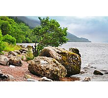 On the shores of Loch Ness Photographic Print