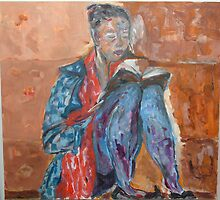 Girl Reading A Book by Dragana Susic