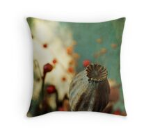 Dried plants in a pot... Throw Pillow