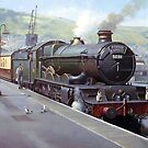 GWR Castle at Kingswear station 1957. by Mike Jeffries