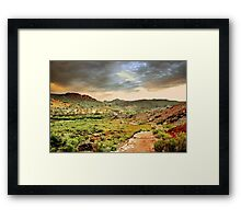 Trailhead to Delicate Arch Framed Print