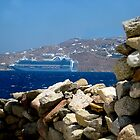 Mykonos Pause for Ruby Princess by Keith Richardson