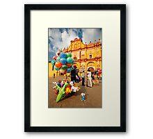 The Zocalo in San Cristobal de las Casas in Chiapas Mexico Framed Print