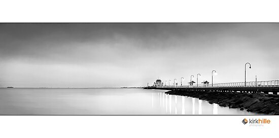 St Kilda Pier B&W by Kirk  Hille