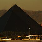 The Luxor on a Hazy Summer Day by TLCGraphics