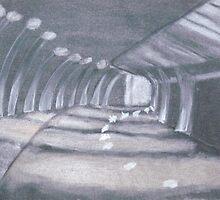 Walkway at Night by Joan Wild