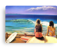surfing wategos Byron Bay Canvas Print