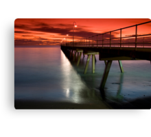 A Glenelg Sunset Canvas Print