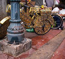 Bike Beer Cans by Lesley Williamson