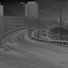 Solarised Photograph of the motorway ramp by Streetpages