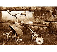 Antique Tricycle Photographic Print