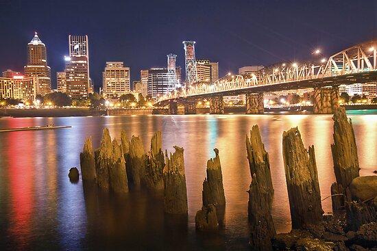 Portland City Skyline by failingjune