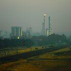 Shell Oil Refinery in Smoke by AusDisciple