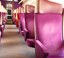 In the Train - TGV Seats by bubblehex08
