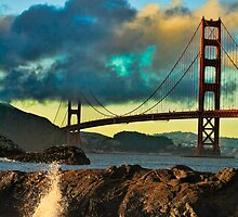 Golden Gate Sunset by Doug Scott