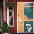 painted door by Lynne Prestebak