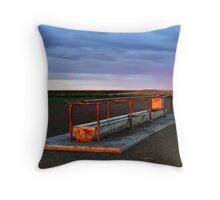 Cattle Trough - Hay Plains Throw Pillow