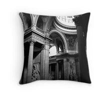 Pantheon interior in Paris in monochrome Throw Pillow