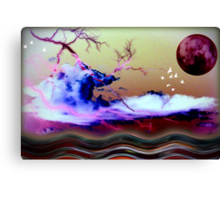 At gloaming somewhere out to sea Canvas Print