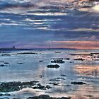 Sunset Over Reculver by Anna Shaw