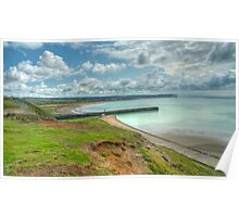 Seaford Bay from Newhaven: East Sussex, UK Poster